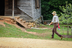 Going to the Mill - Pickens S.C. (DT's Photo Site - Anderson S.C.) Tags: canon 6d 24105mml lens hagood mill upstate pickenssc south carolina young man walking vintage rustic grist grits vanishing southern america usa landscape southernlife