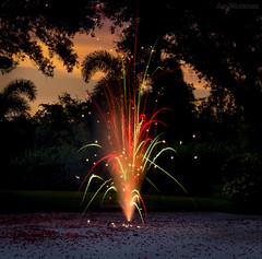 art... (JDS Fine Art Photography) Tags: sunset landscape fireworks light lightpainting sparkler colorful colors colours inspirational beauty art artistic rainbowcolors