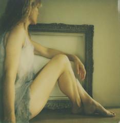 Portrait of a woman (l'imagerie poétique) Tags: limageriepoétique poeticimagery fineartpolaroid impossibleprojectsx70film polavoid painterly portraitofawomen newseries goldenlight polaroidsx70sonar