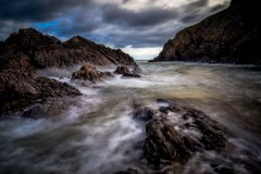 Unsheltered Cove (Augmented Reality Images (Getty Contributor)) Tags: canon cliffs clouds colours landscape leefilters littlestopper longexposure morayfirth morning portknockie rocks scotland water waves