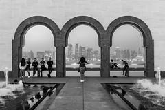 4 + 2 = 6 (filippos.pantazis) Tags: 2016 24mmf14dghsmart 7dmarkii doha mia qatar people mathematics misty dusk view city background symmetry