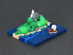 The Arrival (Grantmasters) Tags: boat ship lego micro island