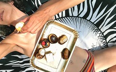 Pastry... (BarbaraBonanno BNNRRB) Tags: pastry me selfie flickrunitedaward artisawoman woman