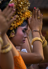 Teenage girls in traditional costume praying before a tooth filing ceremony, Bali island, Canggu, Indonesia (Eric Lafforgue) Tags: adults asia asian bali bali2350 balinese beliefs canggu ceremony clothing colorimage customs filing headdress headdresses headgears headwear hindu hinduism indigenouspeople indonesia indonesian indonesianculture mesangih oneperson onewomanonly outdoors praying realpeople religion rite rites ritual sideview spiritual toothfiling tradition traveldestination vertical women womenonly baliisland