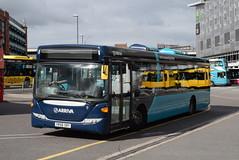 AMN 3556 @ Derby bus station (ianjpoole) Tags: arriva midlands north scania k230ub omnilink yr58sry 3556 working route 1a derby bus station boulton lane estate