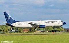 blue panorama b737-8 ei-gaw about to land at shannon 8/7/17. (FQ350BB (brian buckley)) Tags: bluepanorama b7378 einn eigaw