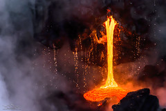 """""""Coming in Hot!"""" (Jeff Stamer (Firefallphotography.com)) Tags: firefallphotography hawaii lavaboat bigisland volcanonationalpark lavaone kilaueaoceanentry lavaoceanentry lava pacificocean pouring dripping steam dramatic colorul intense"""