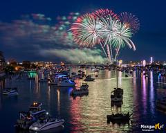 """Polka Dot Smoke"" Bay City Michigan (Michigan Nut) Tags: baycityfireworks boats fireworks michigan usa baycitymichigan midwest"