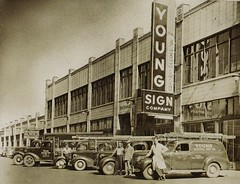 Historic Photo - Young Electric Sign Co. (YESCO) - Ogden - Salt Lake City, Utah (hmdavid) Tags: vintage sign yesco youngelectricsigncompany alegacyoflight book history saltlakecity utah ogden electric neon