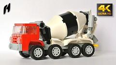 Lego Concrete Mixer Truck (MOC - 4K) (hajdekr) Tags: concretemixertruck concrete beton mixer moc myowncreation lego legobuildingblocks buildingblocks tip inspiration cementmixer legotechnic cement car vehicle automobile truck