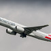 AA 757-200ER rocketing out of Amsterdam for Philly