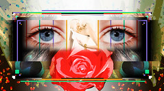 The Woman's Eye (mfuata) Tags: woman kadın eye göz look bakış rose gül jewelry takı makeup makyaj passion tutku