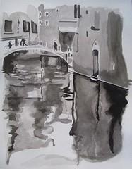 Venecia (http://oba-k3.wixsite.com/davidsalguero) Tags: art arte aguada acuarela watercolor tinta ink monocromático
