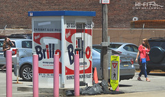 Brillo Booth (Hi-Fi Fotos) Tags: brillo soap pads vintage style ad packaging kitsch art andy warhol museum parking lot booth fun pop culture pittsburgh pennsylvania nikon dx d5999 hififotos hallewell street advertising urban