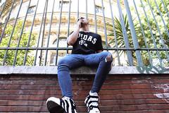 elton2 (Nico Selis) Tags: day night black white dark sneaker boy guy man portrait shoes streetwear street air more nike