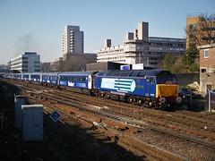 47712 Southampton Central 12/02/2008 (Brad Joyce 37) Tags: 47712 47802 class47 diesel sulzer 1z89 topandtail drs stobart locohauled locomotive slamdoor mk3 southamptoncentral southampton sunshine bluesky train