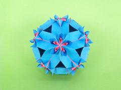 С Днем Рождения, Машуня!!! (masha_losk) Tags: kusudama кусудама origamiwork origamiart foliage origami paper paperfolding modularorigami unitorigami модульноеоригами оригами бумага folded symmetry design handmade art