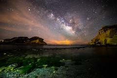 Playa de los cocedores de noche (pedrojateruel) Tags: playa agua noche aguilas murcia cocedores víaláctea