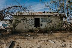 Abandoned House (StellaAdore) Tags: abandoned california urbex urbanexploration forgotten neglected decay fallingapart fire trees sky outside dirt grafiti cannon kerncounty centralvalley bakersfield