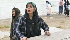 girl in Isfahan at the Khaju-bridge (kingreinhardt) Tags: iran isfahan girl khajubridge