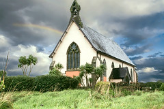 Small church in Ireland (Largeguy1) Tags: approved small church ireland landscape clouds rainbow canon 20d
