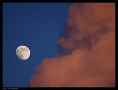 moon at sunset (Neil Tackaberry) Tags: moon sunset cloud red atmosphere celestial county co kerry countykerry cokerry ireland evening sky luna orange