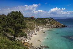 Praia da Nosa Señora (ponzoñosa) Tags: illas islas cies atlantic atlántico turquesa praia playa beach vigo ría peace tree green sand paradise paraíso