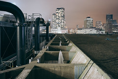 structure.of.night (jonathancastellino) Tags: architecture night toronto roof rooftop rooftopping leica m summicron building infrastructure pipe sky distance concrete