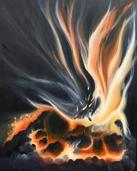 "Balance of the Rising Flame commission,🔥24""X30""• Oil/spray paint on canvas • This painting is suppose to capture ""a dynamic moment of something coming to life, in a single frame."" ""The moment when a dead ember bursts back into flames for a renewed li (TBPT) Tags: ifttt instagram add tags beta app square format iphoneography originalart oilonpaper color artist art paintings contemporaryartist newyorkartist nyc ct coloful newyorkcity instart interiordesign forsale fineart impressionism artworld beautifulart modernart artcollector contemporaryart oilpainting artwork golden pink tarabergey clouds heaven texture pastel fire flame red spark cole black night ember"