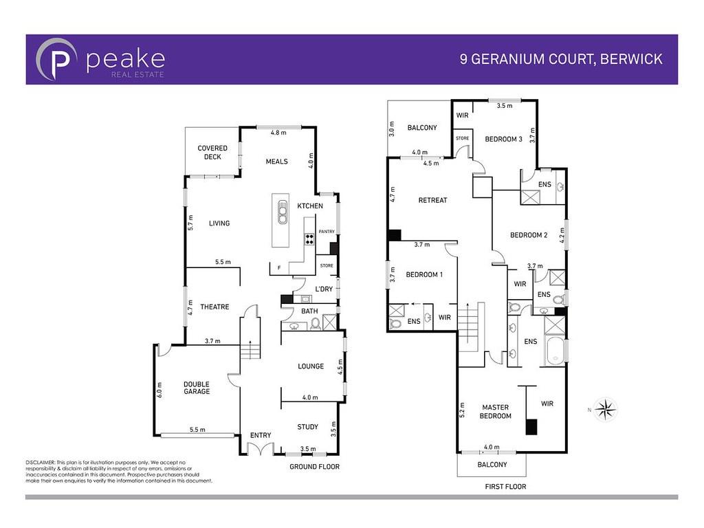 9 Geranium Court floorplan