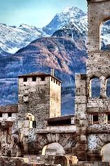 The castle in the mountains. (franco.56) Tags: aosta castello landscape franco nikon mountains castle