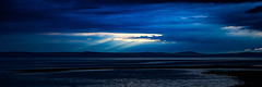 Bluenotes and Bluetones (Brian Travelling) Tags: westofscotland bluehour firthofclyde northayrshire ayrshire water waterscape skyscape sky clouds clyde cloud bay beach beauty beautiful beams