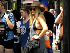 `1986 (roll the dice) Tags: london camden nw1 market hot sunny weather sideboob pretty sexy angry girl mad sad fashion shops shopping blonde people natural streetphotography urban england uk art classic unaware unknown happy pose candid stranger portrait wait hat sungasses traffic lights canon tourism bra lace knickers drink suck straw chalkfarm londonist makeup fun nipple brave reaction crossing