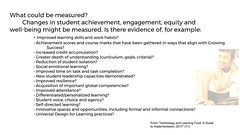 Educational Postcard: When checking for implementation what can be measured? (Ken Whytock) Tags: measured changes achievement engagement equity wellbeing evidence improved learning skills workhabits scores align credit accumulation depthofunderstanding curriculum demmonstration resilience competencies differentiated innovative