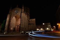 Sant'Antonino (mttdlp) Tags: nightscape nikon night lights trails church car d3200 grandangolo allaperto cielo chiesa dark longexposure exposure italia notte nero piacenza sky