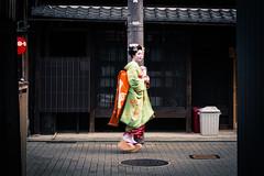 Kyoto - Gion -Maikosan (fouederni) Tags: gion apprentice maiko kyoto geiko japon lantern kimono japan street