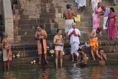 Varanasi, bathing and swimming in the Ganges (2) (walterkolkma) Tags: varanasi india ganges ganga swimming bathing streetphotography hinduism nikond5500