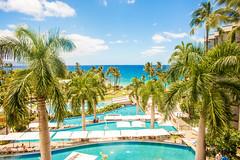 Somewhere in April Time (Thomas Hawk) Tags: andaz andazmauiatwailea hawaii maui wailea beach palmtree pool swimmingpool tree fav10