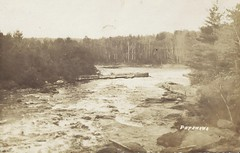 c. 1912 Postcard View of the Petawawa River Near Militia Camp Petawawa, Ontario (Baseball Autographs Football Coins) Tags: militia petawawa camppetawawa petawawariver ontario military training