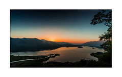 Surprise View Sunset - Exlore 28.05.2017 No.22 (muddybootsuk) Tags: derwentwater keswick lakes lakedistrict cumbria sunset dusk landscape muddybootsuk catbells unitedkingdom greatbritain north northern grimupnorth orange blue landscapes