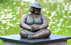 War and Peace (Rob McC) Tags: bronze statue art bokeh sculpture pedestal dof curves helmet war peace warandpeace homefront
