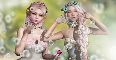 Bubble bees (meriluu17) Tags: ersch fabia arte slackgirl una fairy fairies elven elf surreal friends sisters cute blow blowing fun funny dream dreammy people