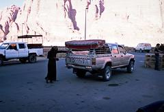 (louis de champs) Tags: minoltasrt101 film fujivelvia50 35mm wadirum jordan desert roadtrip toyota 4x4 bedouin camp