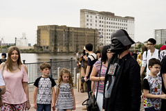 Wow! ... Darth Vader (jamiethompson01) Tags: comic con 2017 london excel dlr movies marvel video games pop culture batman spiderman star wars mcm multigenre fan convention bank holiday street candid martin parr british uk england people event day documentary kids fun child excited wow docks