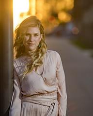 Lauren in Oklahoma City (Mitch Tillison Photography) Tags: stunning beautiful gorgeous female model blonde backlit sunset goldenhour strobe godox nikon d5 tamron 70200 mitchtillison photo photography portrait