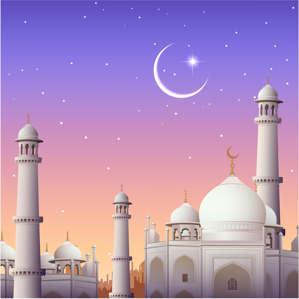 The eid at the mosque