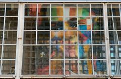 Reflection of Anne Frank 25-5-17 (kees.stoof) Tags: reflection anne frank annefrank amsterdam ndsm ndsmwerf ndsmterrein art kunst