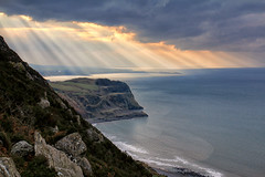 Rays of Hope (Tina Townhill) Tags: nantgwrtheyrn llynpeninsula nefyn wales coast cliffs rays clouds sky sea waves northwales sun sunrays ocean beach landscape bbcwales bbcweather itvweather