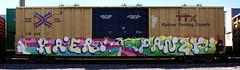 Kaer/Panze (quiet-silence) Tags: graffiti graff freight fr8 train railroad railcar art kaer panze tci boxcar ttx tbox e2e endtoend tbox661317