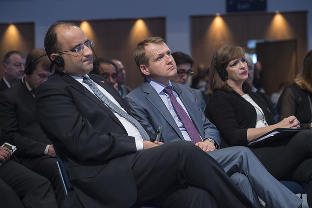 Anis Ghedira and Nikolay Asaul taking in the Plenary session